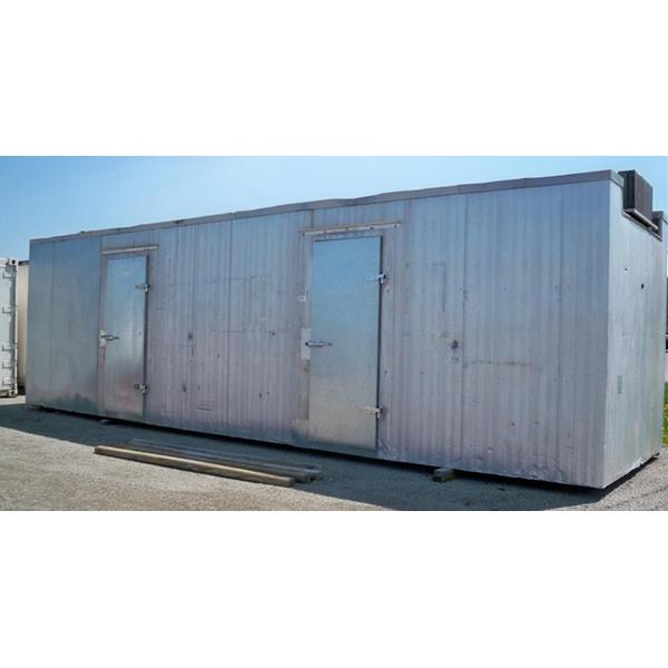 8 x 28 x 9 H Outdoor Walk In Cooler 224 Sq Ft