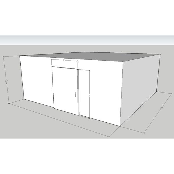"20' x 20' x 8'4""H Walk-In Cooler"