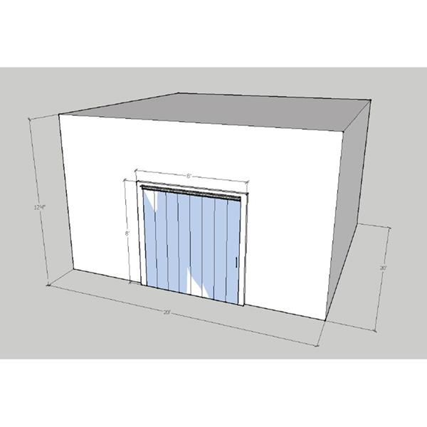 "20' x 20' x 12'4""H Drive-In Cooler"