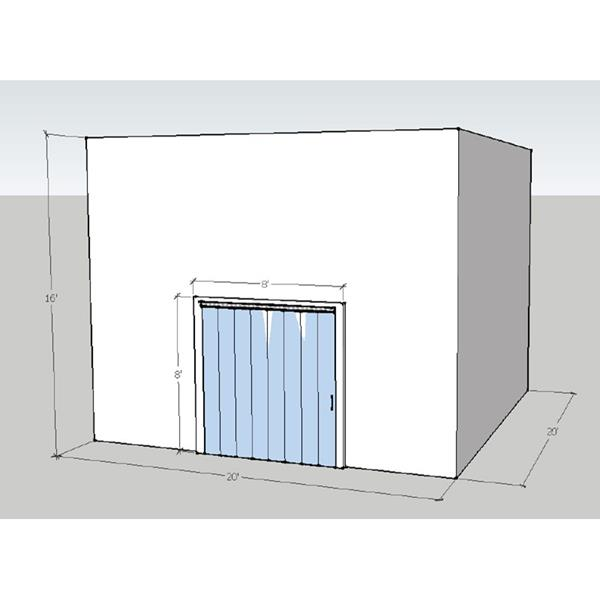 "20' x 20' x 16'4""H Drive-In Cooler"