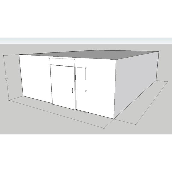 "20' x 30' x 8'4""H Walk-In Cooler"
