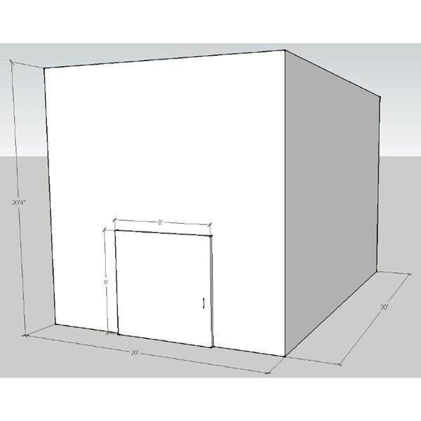 "20' x 30' x 20'4""H Drive-In Cooler"