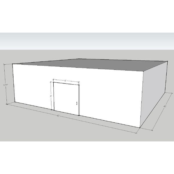 "40' x 40' x 12'4""H Drive-In Cooler"