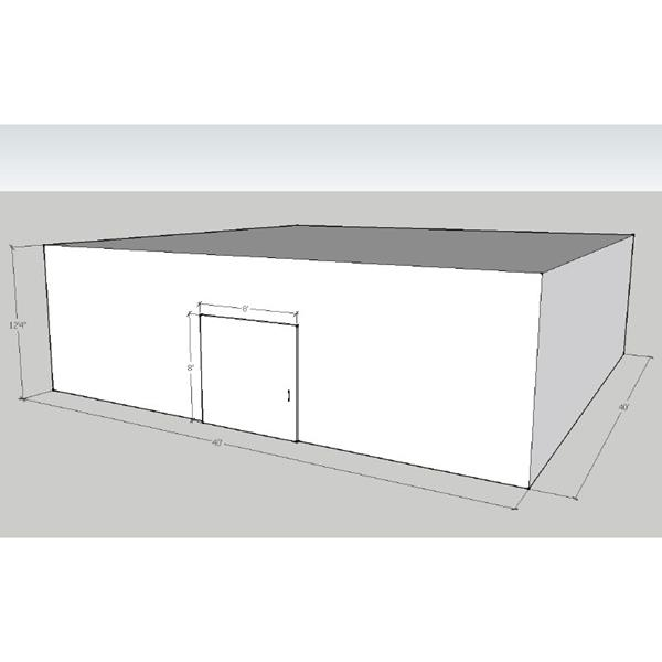"40' x 40' x 16'4""H Drive-In Cooler"