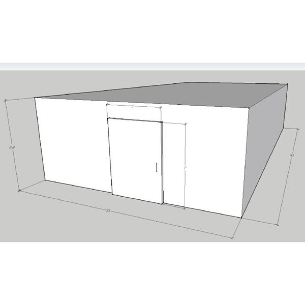 "20' x 40' x 8'4""H Walk-In Freezer"