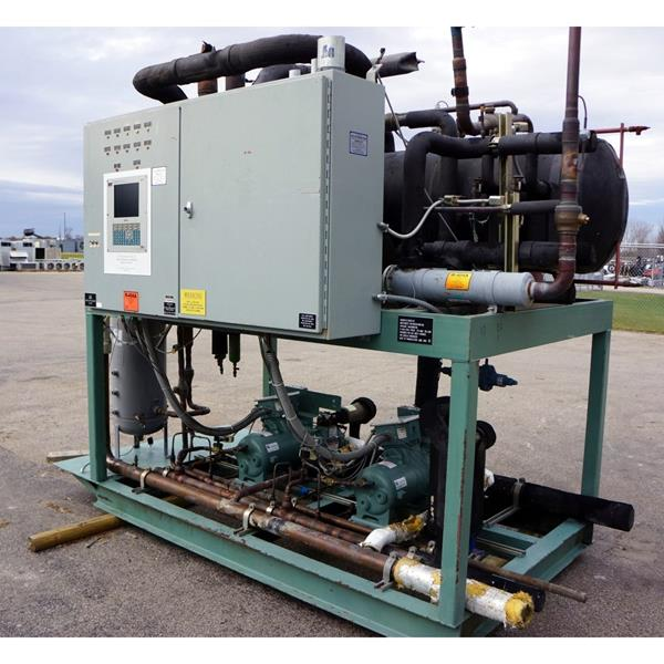 80 HP Low Temperature Dual Screw Compressor Rack Package.