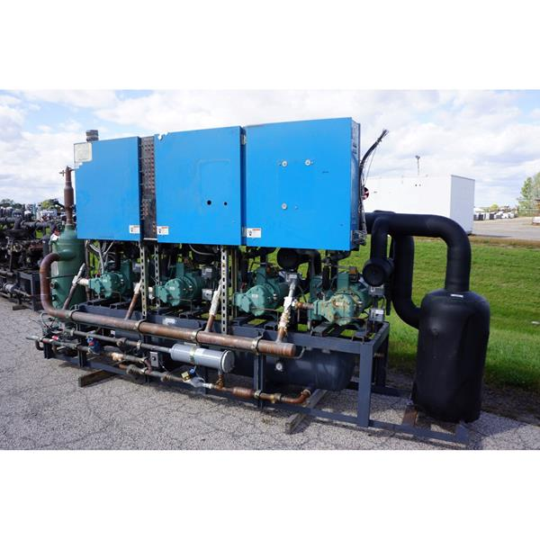 100 HP Low Temperature Screw Compressor Rack Package (#205).