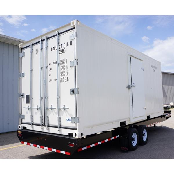 20' Refrigerated Container with Heavy Duty Trailer (Cooler)