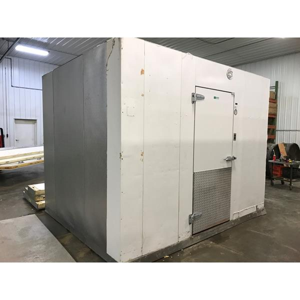 "8'8"" x 10'7"" x 8'8""H Imperial Brown Walk-in Freezer with Floor"