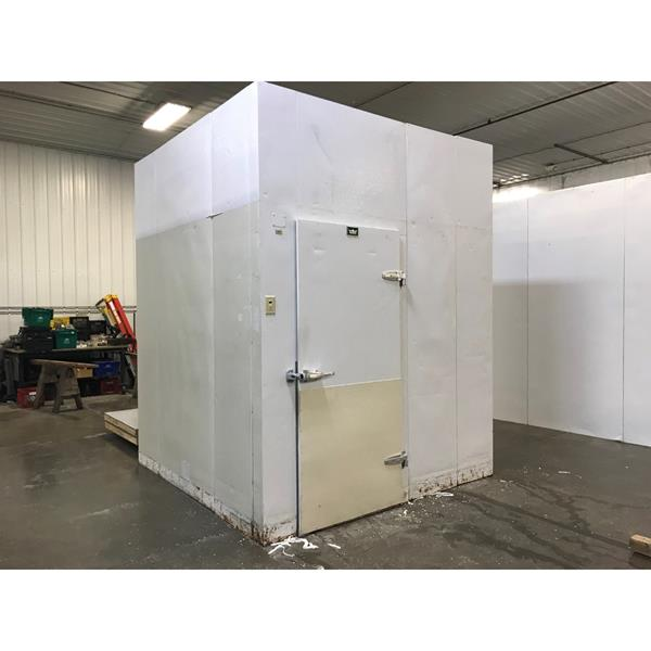 "8' x 8' x 9'11""H Crown-Tonka Walk-in Cooler with new condensing unit."