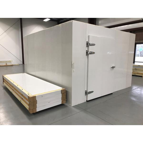 "11'6"" x 13'2"" x 8'H Walk-in Cooler with New Refrigeration System"