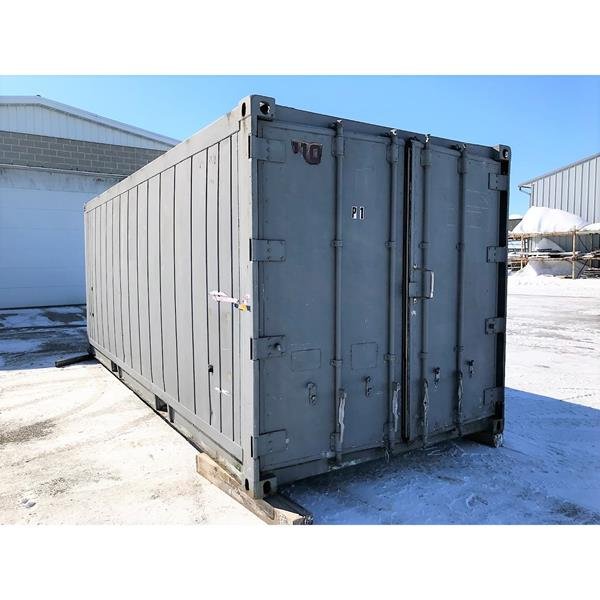 20' Used Refrigerated Container with side mount freezer unit (#110)