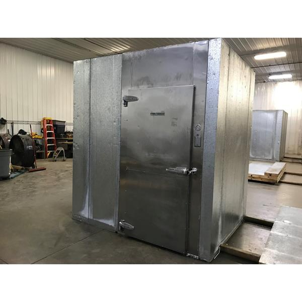 "6' x 7'6"" x 8'6""H Kysor-Needham Walk-in Cooler with new condensing unit"