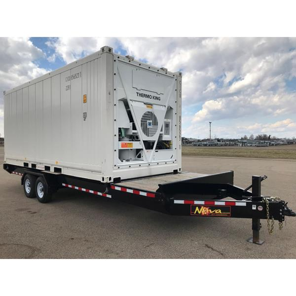 20' Reefer Container with Heavy Duty Trailer & Side Door (Cooler-Freezer with Thermoking Unit)
