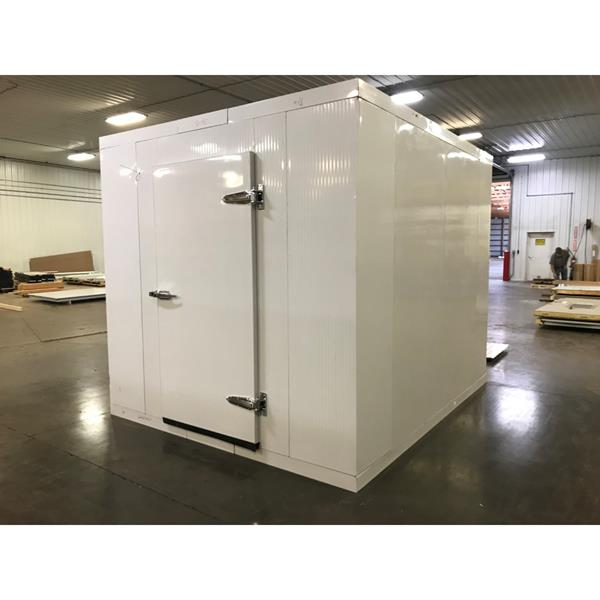 "8'3"" x 9'10"" x 8'H Walk-in Cooler with floor and new condensing unit. (ACQ)"
