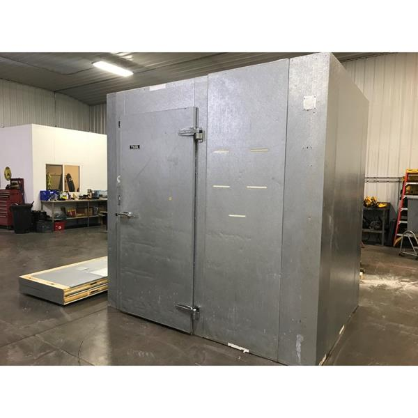 "6' x 8' x 8'4""H Tyler Walk-in Cooler with new condensing unit."