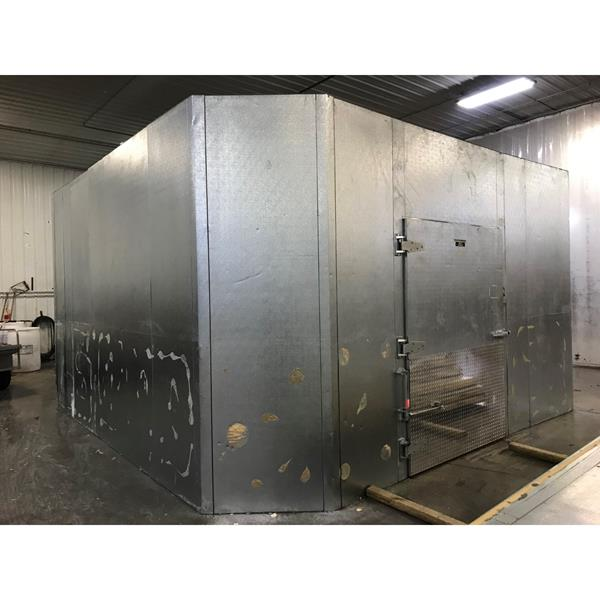 "15'9"" x 16' x 10'H(Irregular) Hill-Phoenix Walk-in Cooler"